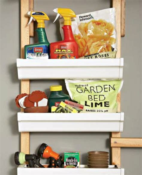 Garage Organization Totes 15 Creative Gutter Ideas For Organization Storage