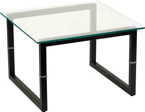 square glass end table square frame glass end table by flash furniture in side tables