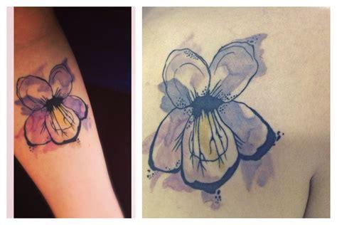watercolor tattoo violet watercolor violet tattoos tats
