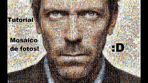 hacer cuadro de fotos como hacer un foto mosaico tutorial youtube