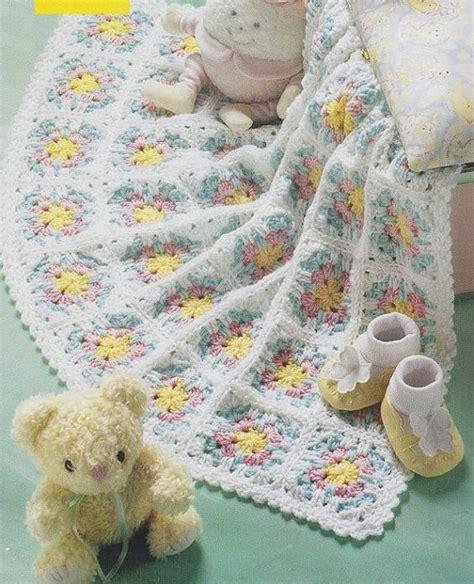 flower pattern afghan flower baby afghan crochet pattern por paperbuttercup en