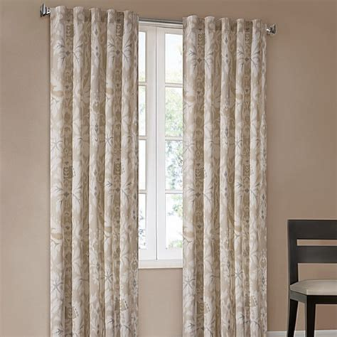 bed bath and beyond curtain panels echo design positano print window curtain panels bed