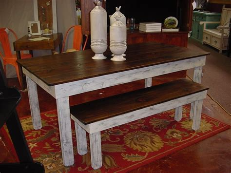 farmhouse table and bench set farmhouse table and bench from wood new decoration