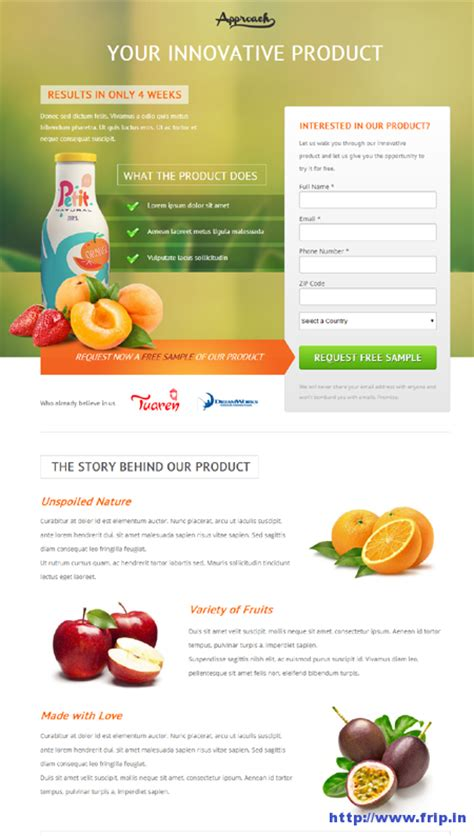 50 Best Unbounce Landing Page Templates Frip In Lead Generation Page Template