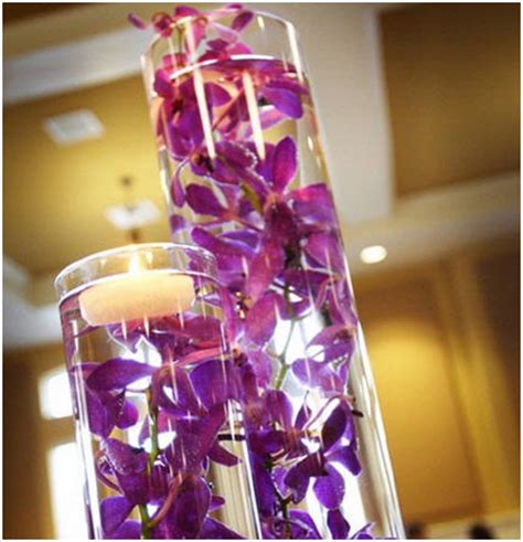 Cylinder Vases Wedding Centerpieces by Centerpieces