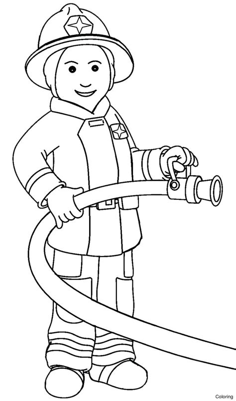 firefighter coloring pages fresh firefighter coloring page gallery printable