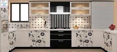 flower design laminates woodz modular kitchen visakhapatnam kitchen designs and