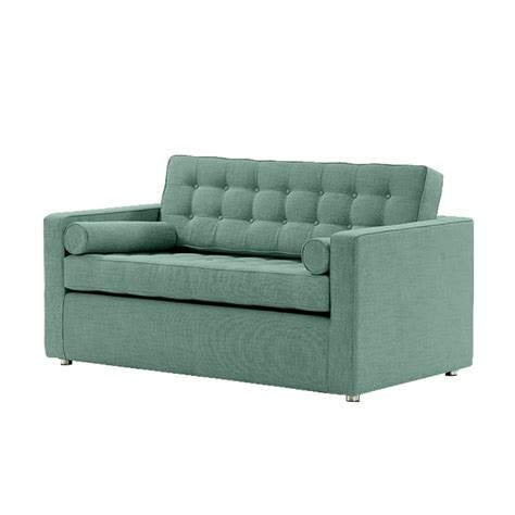 blue suntree manhattan sofa bed linen mix teal blue