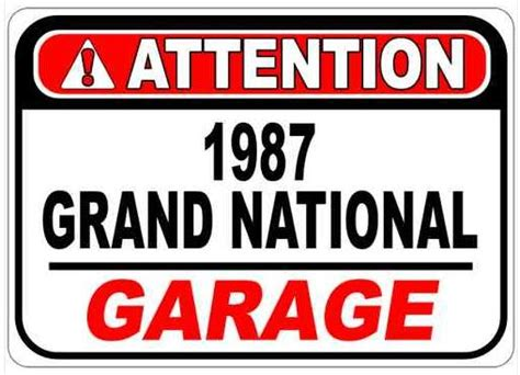 Car Part Home Decor by Buick Grand National Garage Signs