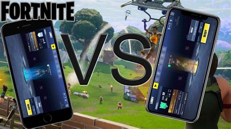 fortnite mobile iphone x vs iphone 6s is it different