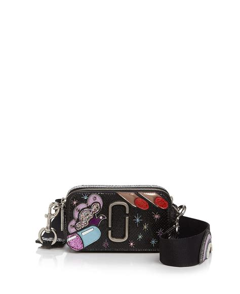Marc Snapshot Dalmatian marc pill snapshot leather bag in black lyst