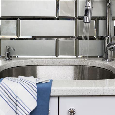 beveled edge mirror wall tiles gray beveled 4x12 mirror tile