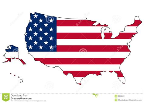 usa map states flags usa flag and map stock image image of american plan