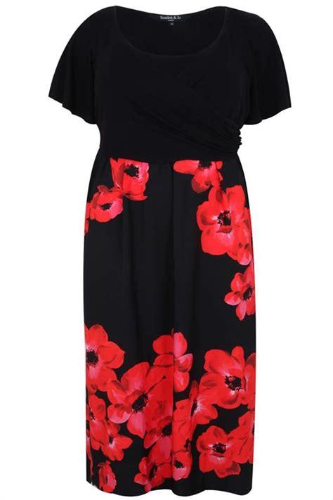 Exclusive Rok Maxi Herlita Skirt Hc Hots Product jo black poppy print wrap front maxi dress plus size 14 to 32