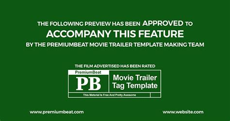 Trailer Credit Template Freebie Marketing Pack