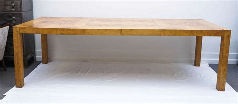 Parsons Expandable Dining Table Mid Century Modern Burl Wood Parsons Dining Table By