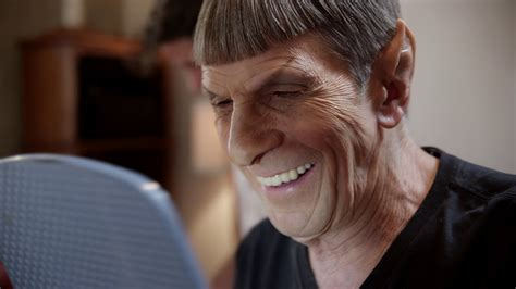 vulcan spock hairstyle men see leonard nimoy become spock for the final time beyond