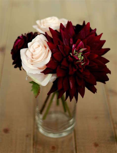 burgundy wedding table centerpieces plum burgundy dahlia centerpiece wedding centerpieces