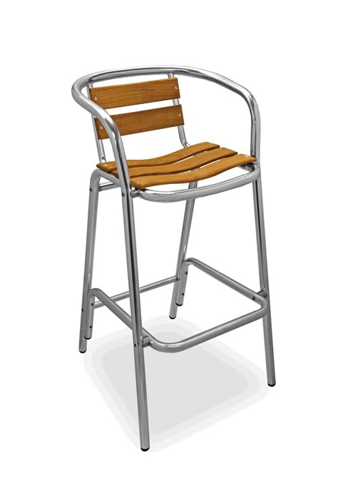 Florida Seating Bar Stools by Florida Seating Commercial Aluminum Teak Outdoor