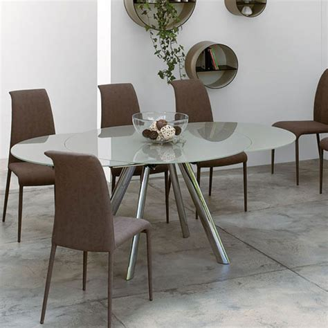 Peressini Myles Extending Glass Dining Table Extending Glass Dining Table