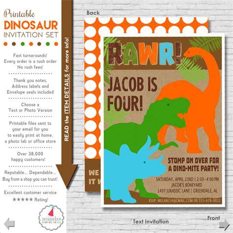 printable birthday invitations dinosaur dinosaur birthday invitation printable by amandaspartiestogo