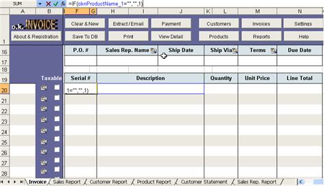 invoice template  excel excel