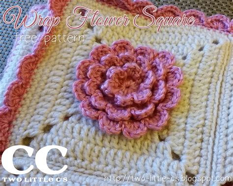 motif afghan pattern two little c s wrap flower 6 quot square free crochet pattern