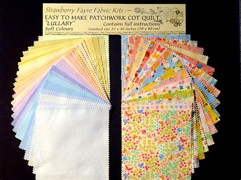 Patchwork Cot Quilt Kits - lullaby cot quilt kit windmill blocks strawberry fayre