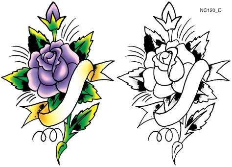 collection of 25 free banner and rose tattoo design