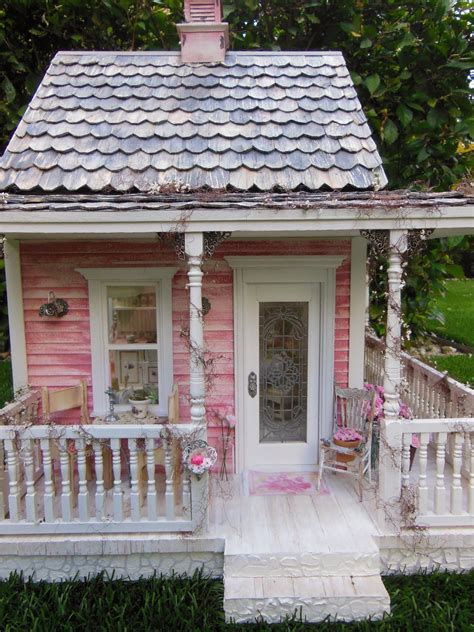 The Cottage Thinking Outside by Mini Hobby Day 92 Shabby Chic Cottage Outside Photoshoot