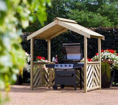 grill pavillon holz wooden garden furniture simply wood