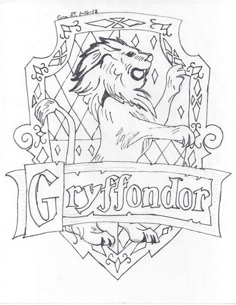 harry potter coloring pages house crests gryffindor house by hyperlikemomiji22 on deviantart