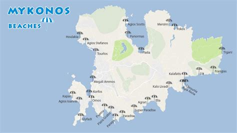 mykonos map mykonos beaches complete guide to the best beaches in