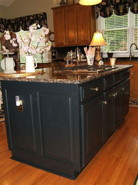 paint kitchen cabinets black 25 best ideas about black kitchen island on pinterest