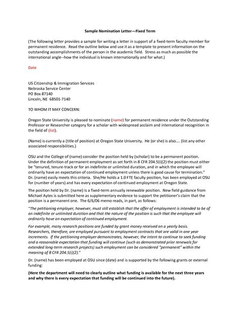 Scholarship Letter Design Sle Award Nomination Letter For Employee World Of Exles
