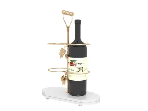 red wine rack wine rack with a bottle of red wine 3d model 3dsmax files