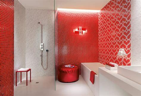 Bagno Mosaico Rosso by Bagno Rosso Per Piastrelle Sanitari Complementi Cose