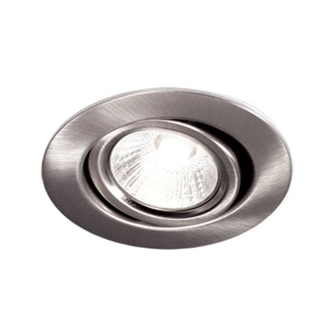 Halogen Kitchen Light Fixtures Bazz 300 Series 4 In Brushed Chrome Recessed Halogen