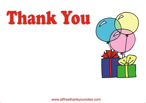 thank you card for birthday template free all occasion thank you notes and thank you cards