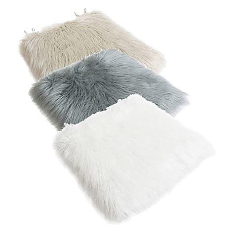 faux fur chair cushion thro by mario lorenz keller faux mongolian seat cushion