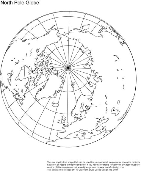 Where Is The Arctic Earth Coloring Page Printable Blank World Globe Earth Maps Royalty Free Jpg