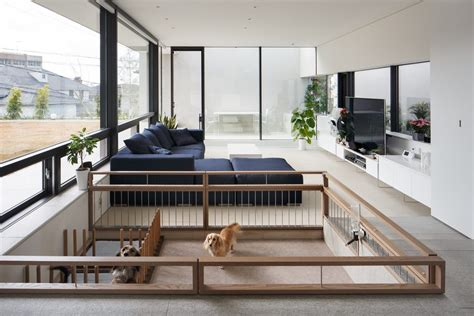 House Floor Plans With Loft Dog Pen Ideas Family Room Modern With Dog Play Pen Glass