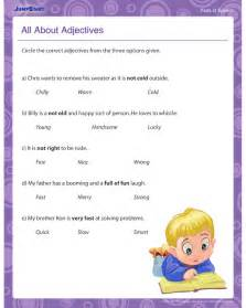 adjective worksheets for 2nd grade abitlikethis