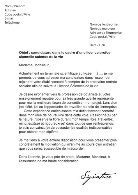 Exemple Lettre De Motivation Iut Exemple Lettre De Motivation Pour Iut