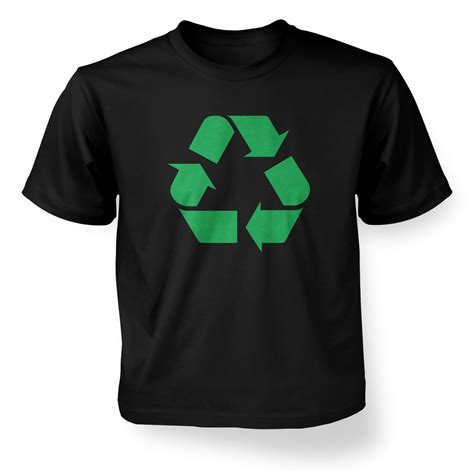 Tshirt Green Recycle Black by Green Recycling Symbol T Shirt Somethinggeeky