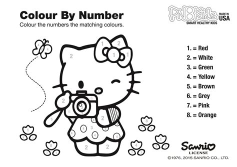 hello kitty coloring pages with numbers play learn pnkidspnkids