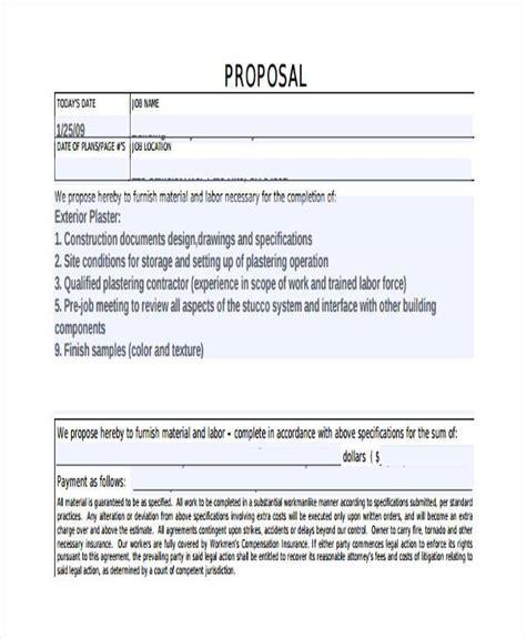 design construct proposal form doc 585663 sle of construction proposal