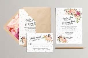 bohemian wedding invitation wording printable wedding invitation and rsvp card rustic wedding invitation bohemian wedding