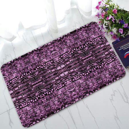 Purple Doormat by Phfzk Watercolor Doormat Abstract Aztec Pattern Purple