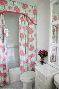 Curtains Pink And Green Ideas Shower Curtain Valance Contemporary Bathroom Design Manifest